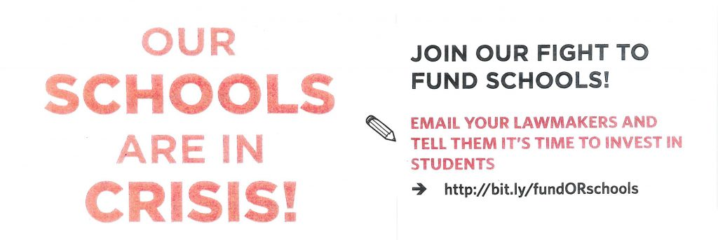 JOIN OUR FIGHT TO FUND SCHOOLS!