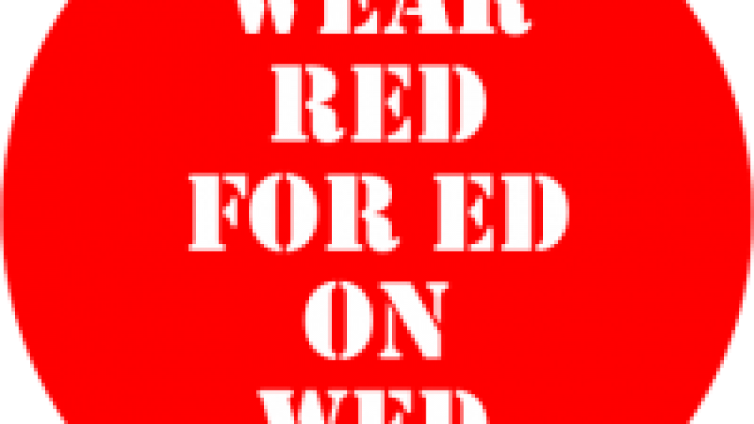 red for ed on wed